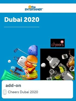 Entertainer Dubai 2020 with Cheers 7 day App Rental