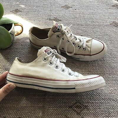 Converse White Classic Low Top Sneakers Size 7.5 Womens