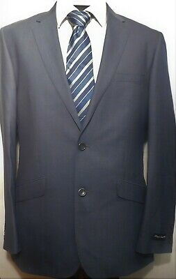 NWT FRENCH CONNECTION, Fine Wool 2-Button Sport Coat in Steel Grey, Size 40 #207