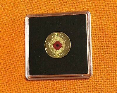 2012 ** Red Poppy ** REMEMBRANCE $2 Coin ** UNCIRCULATED in Hard Plastic Case