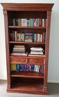 Antique Indian Carved Wooden Bookcase