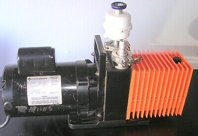 Alcatel Rotary Vane Vacuum Pump 2008A TESTED TO 1 MICRON Vacuum!! 120v 7 cfm