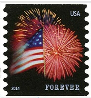 USPS Forever Star-Spangled Banner Flag and Fireworks Stamps 3 rolls of 100.