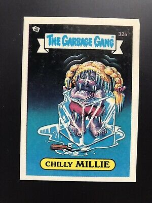 The Garbage Gang Chiily Millie 32b 1985 Card Sticker Vintage