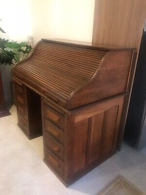 Roll top desk - Oak,  Cutler style.  Excellent condition. Local pickup