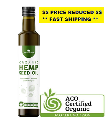 Hemp Seed Oil Australian Certified Organic Cold Pressed Vegan Plant Oil
