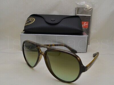Ray Ban CATS 5000 (RB4125-710/A6 59) Havana with Green Gradient Brown Lens