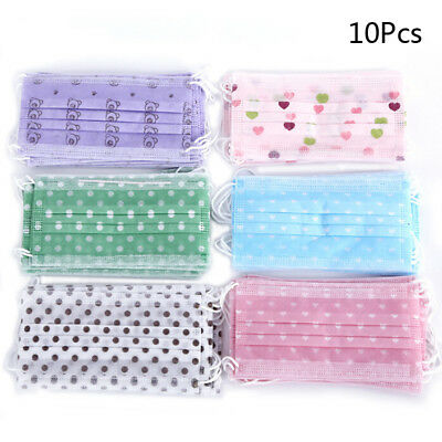 10Pcs Anti Dust Masks 3 Layers Disposable Medical Face Mouth Health Mask LU