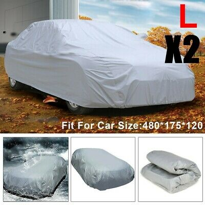 2 Pack Heavy Duty Full Car Cover UV Protection Waterproof Breathable Large Size