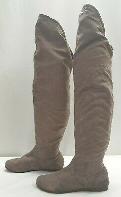 NEXT ladies womens long distressed over the knee winter boots Size UK 7 EU 41