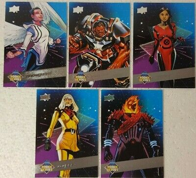2018-19 Upper Deck Marvel Annual Trading Card Set ROOKIE HEROES RH 1 - 5