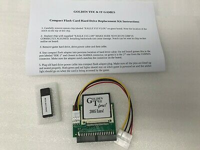 IT Golden Tee Fore! 2005 Extra - Arcade Compact Flash CF Card Hard Drive Kit -