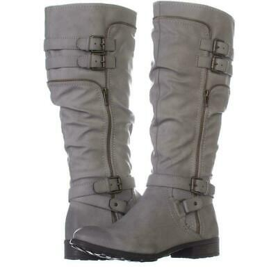White Mountain Womens Remi Round Toe Knee, Charcoal/Burnished Smooth, Size 8.5 C