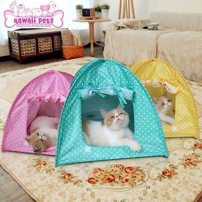 Foldable Pet Dog House Puppy Cat Waterproof Tent Indoor Outdoor Teepee