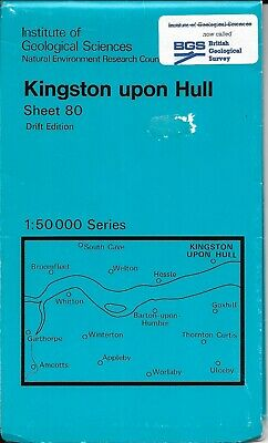 Institute of Geological Sciences Map Sheet 80 Kingston upon Hull 1983 Very Good