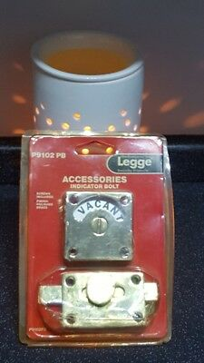 Legge Brass Vacant Engaged Toilet Bathroom Door Lock Indicator Bolt