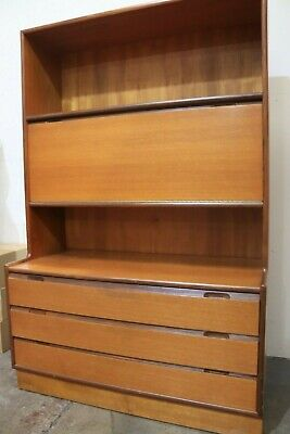 Vtg Mid Century Turnidge Teak Bookcase Display Cabinet Sideboard - 250