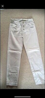 Girls Zara Trousers Age 8 Cream/Beige