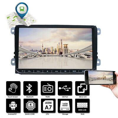 "9"" Autoradio Android 8.1 Bluetooth GPS Navi Für VW GOLF 5 V PASSAT Touran Tiguan"
