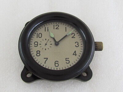 AVRM ZChZ Vintage Military Russian Tank T-34 & USSR Aircraft Helicopter Clock