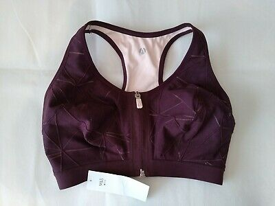 M&S Active Extra High Impact Non Wired Zip Front Sports Bra 32E BNWT RRP £25