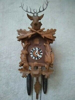 Black Forest Hunter mechanical cuckoo clock in excellent working condition