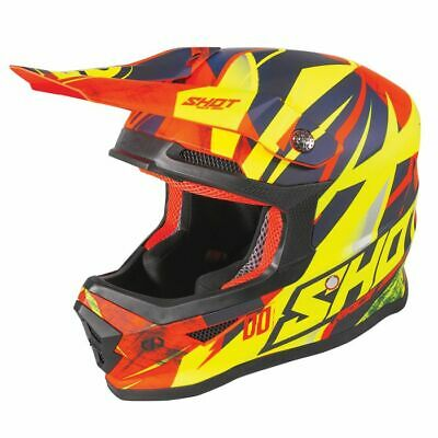 2020 Shot Furious MX Helmet Kids - Ventury Neon Orange Glossy