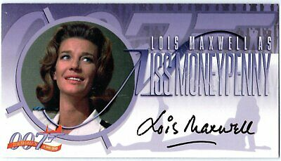 James Bond The Women Of A2 Lois Maxwell Miss Moneypenny Autograph Rare Only One