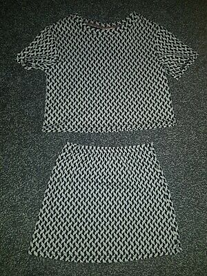 Girls Top And Skirt Set Co-Ord**Black And White*Age 5 Years**❄Christmas❄ Matalan