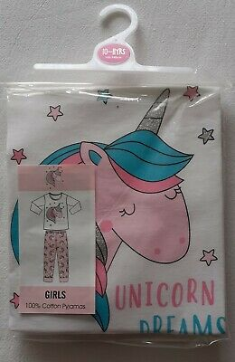 Girl's Pyjamas - Unicorn Dreams - Age 10-11 Years - Brand New