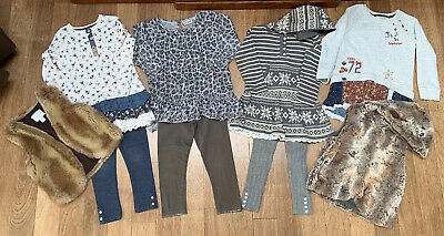 Next Girls Tunics & Leggings Outfits And Faux Fur Waistcoats. Age 3-4 Years.