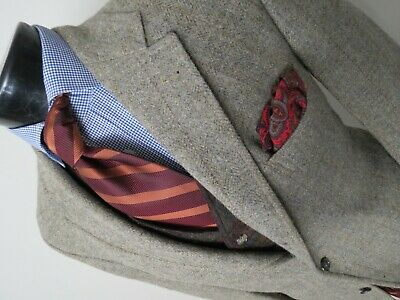 Gorgeous J Press Heavy Donegal tweed style Tweed  three button sport coat 42 L