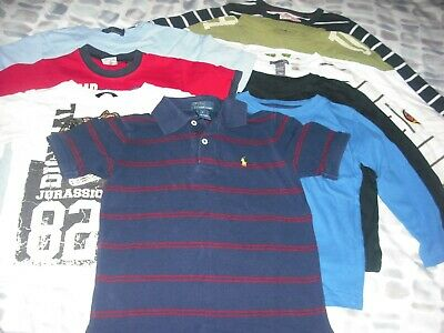 Boys T shirt Bundle 9 tops, age 4, long and short sleeve, various brands, used
