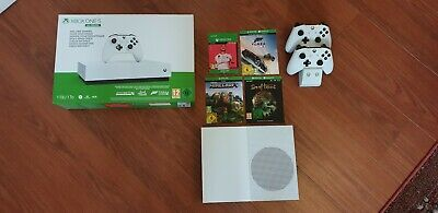 Xbox One S All Digital Edition (mint condition)  + 2 Controls +FIFA 20 + 3 Games