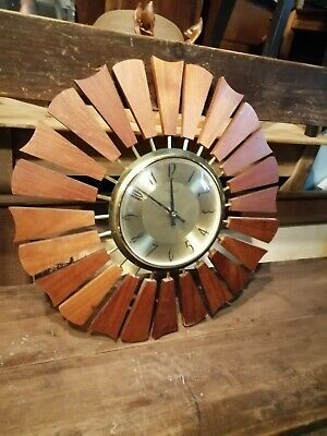 Vintage Anstey and Wilson sunburst clock