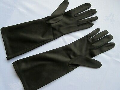 Pair Of Women's Vintage Gloves, Evening Wear With Embroidered Detail,