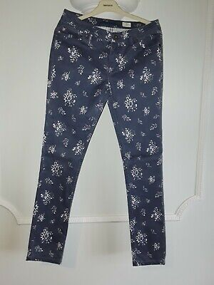 Johnnie b by Boden Girls Blue & White Patterned Trousers size 30L Age 15-16