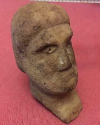 Roman Germany Tribes Goth  ancient sculpture man marble 3-4 century AD