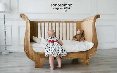 Baby Cot, Oak Cot, Certified cot bed, Handcrafted cot bed, Toddler bed