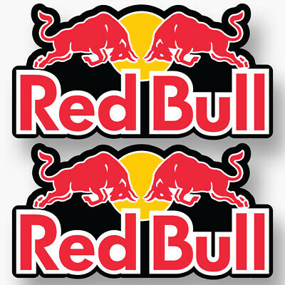 2x RED BULL Stickers Vinyl Decal Car Truck Formula 1 Racing Extreme Snow F1 New