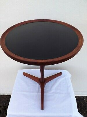 VERY RARE HANS ANDERSEN TEAK TRIPOD SIDE TABLE CIRCA 1960s DANISH