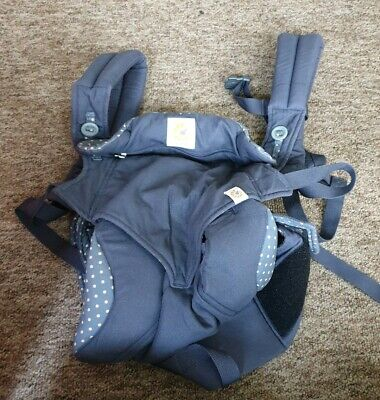 Ergobaby dusty blue 4 position 360 baby carrier