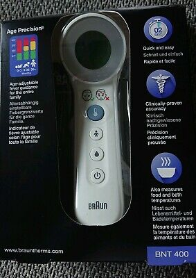 BRAUN No touch + touch Thermometer mit Age Precision, BNT400WE PZN 09339970
