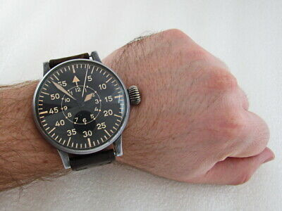 LACO AVIATOR BIG NAVIGATION German Pilots 1939-1945 Vintage Swiss ORIGINAL Watch