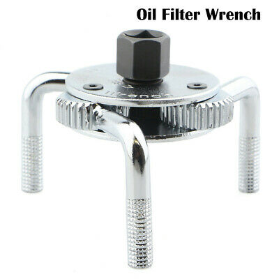 2 Way Oil Filter Wrench Auto Adjustable Universal 3-Jaw Remover For Trucks