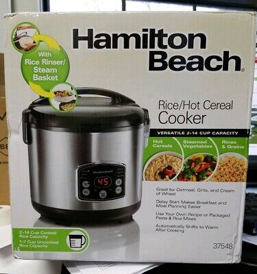 Hamilton Beach Rice & Hot Cereal Cooker, 14-Cups (Cooked), 37548.  Brand New