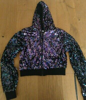 Girls black sequin jacket, 12 - 14 yrs, WORN ONCE, H&M, party, Christmas