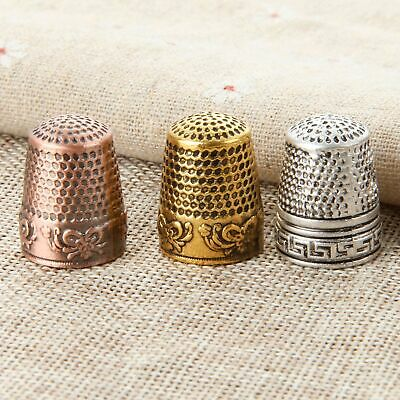 AU 3 Colour Thimbles Finger Protector Metal Sewing Hand Needlework Accessories