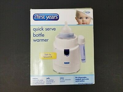 The First Years 2-in-1 Simple Serve Bottle Warmer,Quickly Warm Bottles,Compact