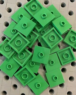 Lego ® lot x4 2x2 smooth plate flat bow w groove choose color 27925 new